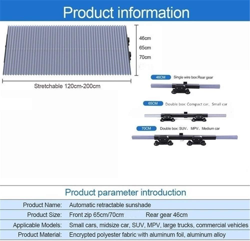 Akkordeon-Typ Automatische einziehbare Windschutzscheiben-Sonnenblende Sonnenschutzd/ämmungs-Sonnenschutz Miloe Auto-Windschutzscheiben-Sonnenschutz