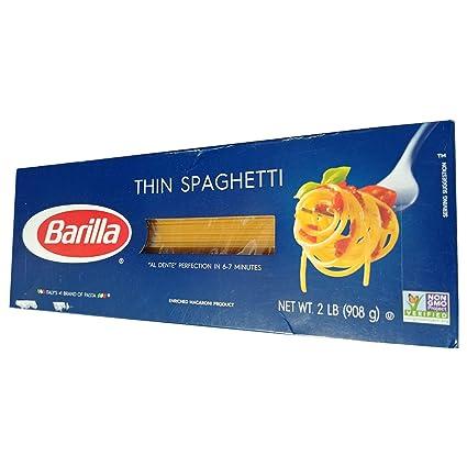Barilla Thin Spaghetti, Marca de Italia Pasta, 2LB: Amazon ...