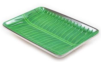 Villa Melamine Banana Leaf Plates Printed Design (6 14u0026quot;)  sc 1 st  Amazon.com & Amazon.com: Villa Melamine Banana Leaf Plates Printed Design (6 14 ...