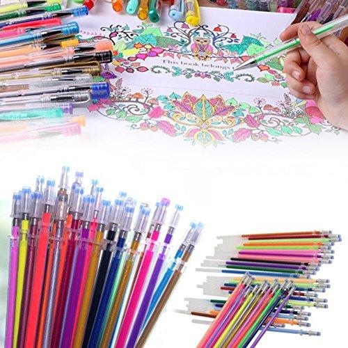 Slendima Sale! 0.8 mm Gel Pen Refills Glitter Coloring Drawi