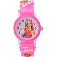 Barbie Analogue White Dial Round Girl's Watches for Girls/Kids Watch for Girls/Watch for Girl/Kids Watch/Barbie Watch Kids Girls Low Price/Girls Kids Watches/Children Watches