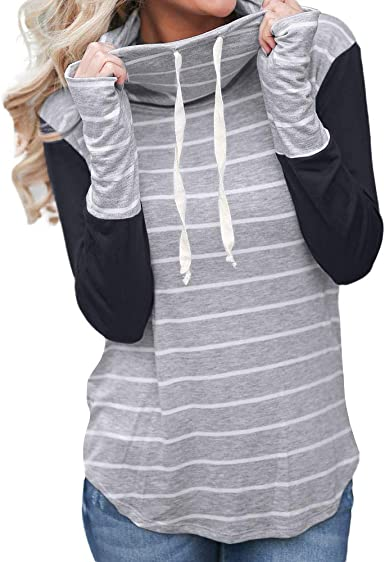 Moonuy Veste en Sweat Zippé Sweat Shirt À Capuche Long Femme