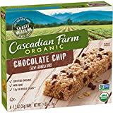 Cascadian Farm Organic Granola Bars, Chocolate Chip Chewy Granola Bars, 6 Bars (Pack of 6)