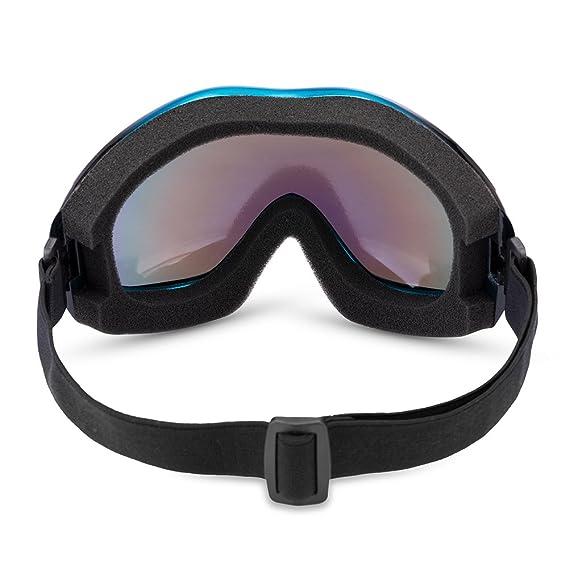 JTENG Gafas de Esquí Gafas de moto Anti Polvo de Niebla UV, a Prueba de Polvo Resistente a los Arañazos Bendable a Prueba de Viento Gafas Protectoras Gafas: ...