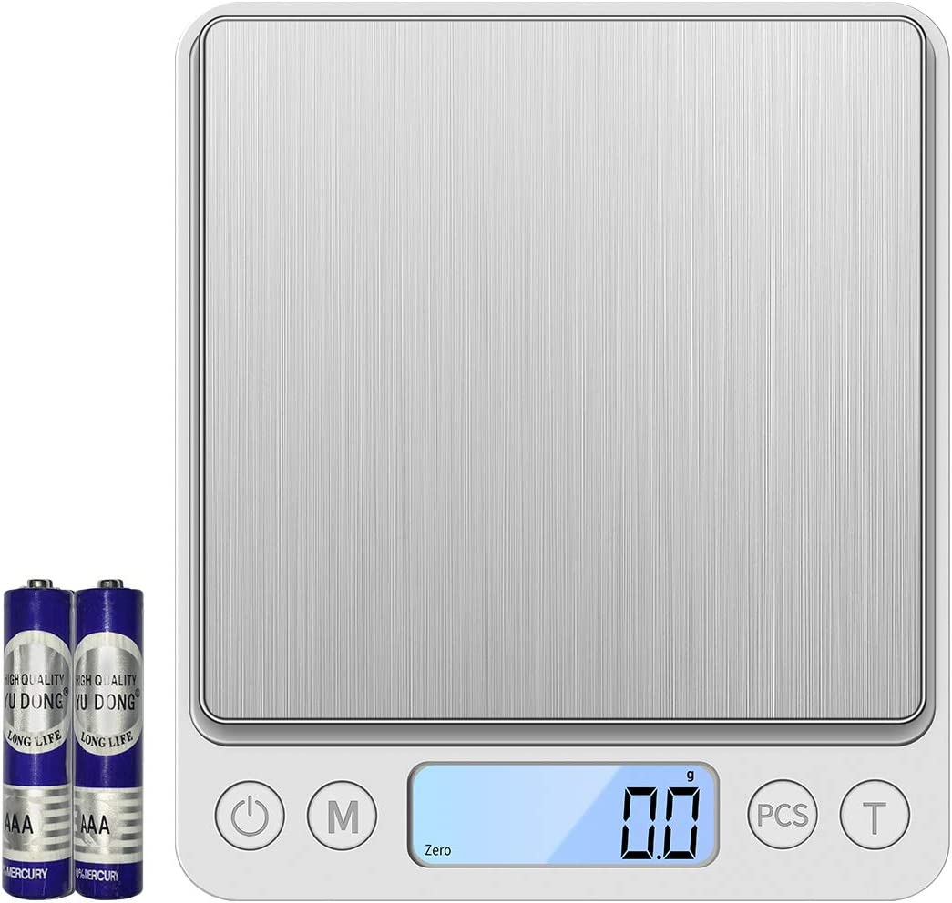 Digital Kitchen Scale, Food Scale Weight Grams and Oz , High Accuracy Cooking Scale, Mini Pocket Scale Milligrams 3000g x 0.1g, Electronic kitchen Scales, Small Jewelry Scale with Automatic Shutdown