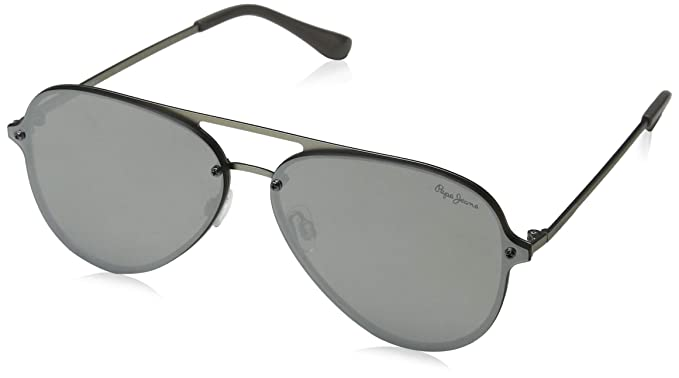 Pepe Jeans Milo Gafas de Sol, Plateado (Silver/Grey), 65.0 ...