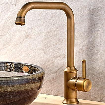 antique black bronze copper kitchen sink faucet hot and cold dish wash sink kitchen faucet - Copper Kitchen Faucets