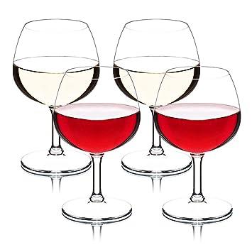 MICHLEY copas vino cristal, 100% Tritan-plástico Irrompible copas de vino, 26