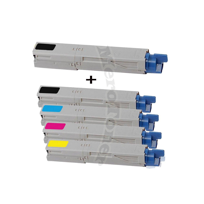 Merotoner - Kit de 5 Cartuchos de tóner compatibles para Impresora ...