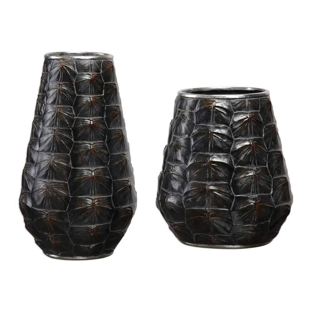 Uttermost 18802 Kapil Tortoise Shell Vases, Set of 2 B0727M1XF1