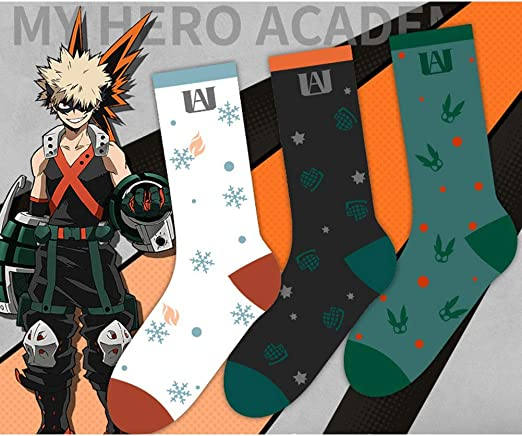 Unisex Cotton Socks Cool Colorful Fancy Novelty Socks H03 Apehuyuan My Hero Academia Anime Socks Glasses Cloth
