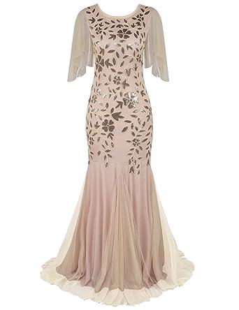 Kayamiya Damen Abendkleid der 1920er Jahre Pailletten Mermaid Hem ...