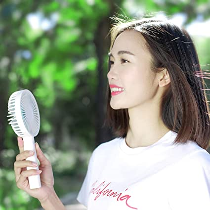 Amazon.com : Handheld Personal Fan, 130°Rotation Portable Table Fan with USB Rechargeable, 3 Adjustable Speeds, Strong Wind, for Travel, Camping and Outdoor ...