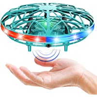 AMERTEER UFO Drone Toy, Hand Operated Drones for Kids with 5 Induction Heads UFO Drone, Flying Ball Toy with Colorful…