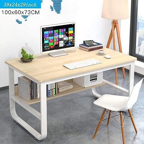 Amazon.com: Escritorio para ordenador, mesa de trabajo, mesa ...