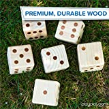 Play Platoon Lawn Dice - Giant Wooden Yard Dice