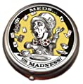 Mad Hatter Pill Box - Compact 1 or 2 Compartment Medicine Case