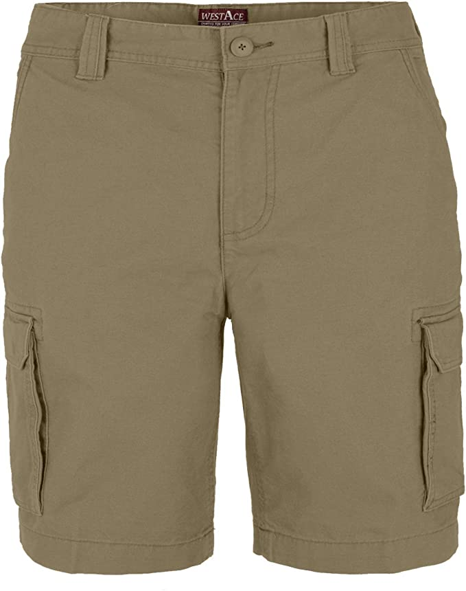 Mens Cargo Combat Shorts Chino Stretch Casual Knee Length