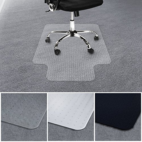 casa pura Office Chair Mat with Lip for Carpets | Floor Protector for Office and Home Desk Chairs | 100% BPA, Phthalate & Odor Free | Translucent | 30