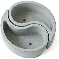 Jannyshop Moldes de maceta de hormigón Moldes de silicona Chismes Modelo de maceta de hormigón compuesto
