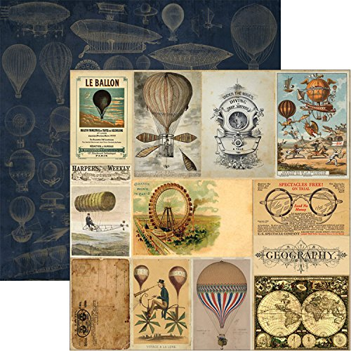 """Time Keeper Double-Sided Cardstock 12""""X12""""-Exploratorium"""