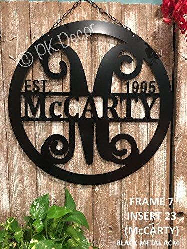 Personalized Last Name Door Hanger - 24
