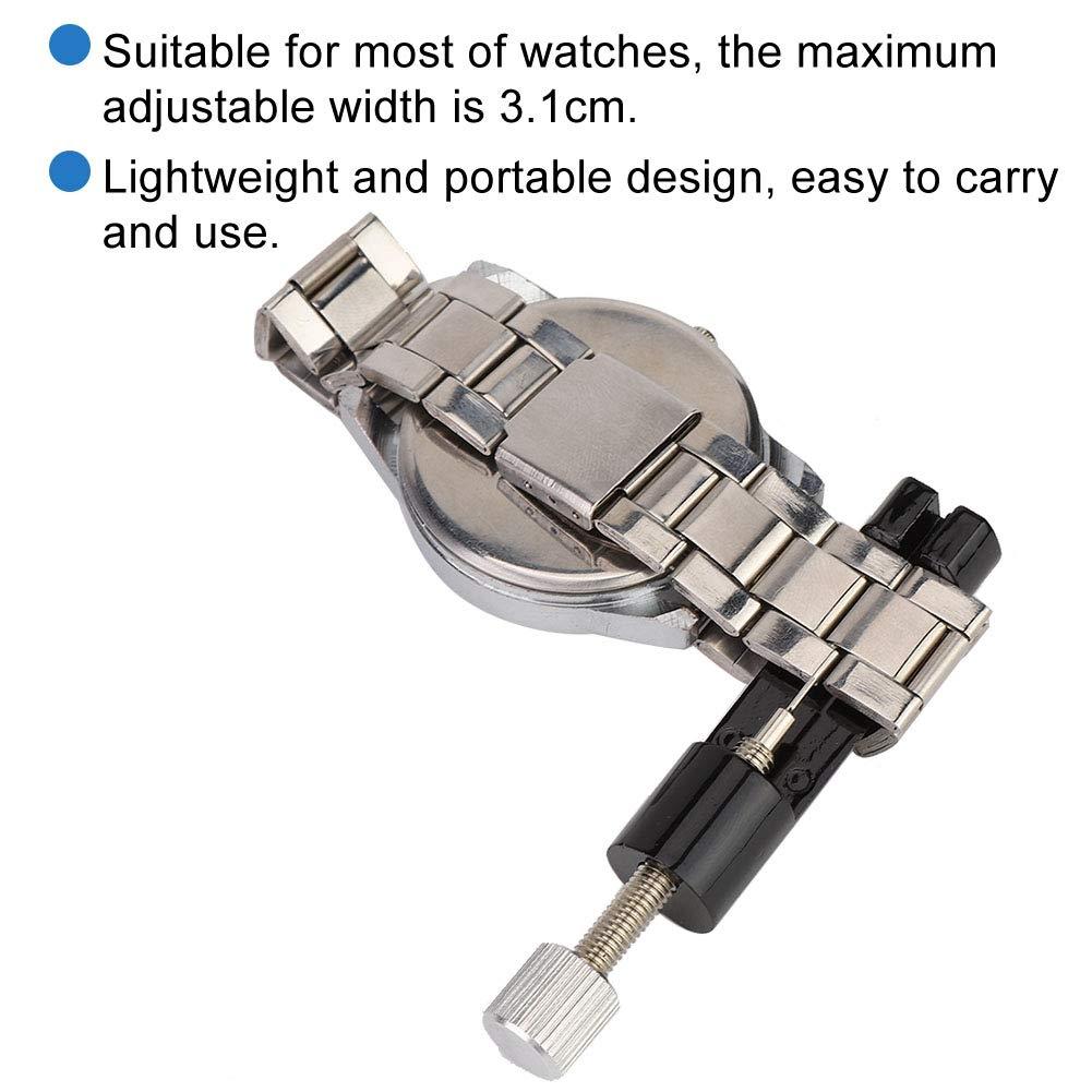 Uhrmacherwerkzeug Qkiss Armbandentferner Reparatursatz zum L/ösen des Handgelenkbandes Zum Entfernen des Verbindungsstifts und zur einstellbares Uhrband-Ersatzwerkzeug