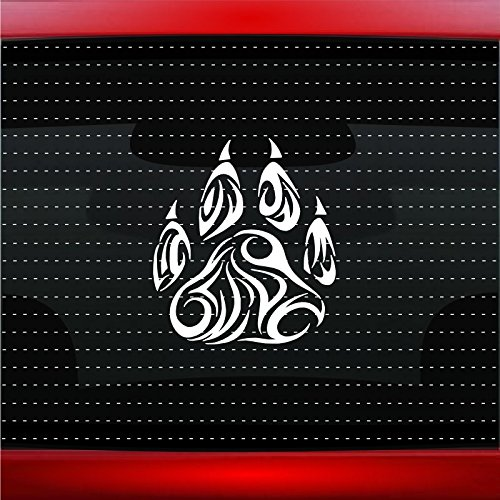 Wolf Paw #1 Indian Native American Car Sticker Truck Window Vinyl Decal COLOR: WHITE ()