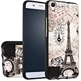 MOONCASE Huawei Y6 Case, [Eiffel Tower] 3D Embossed Painting Series Protective Case Cover for Huawei Y6 / Honor 4A Anti-Slip Soft TPU Gel Case
