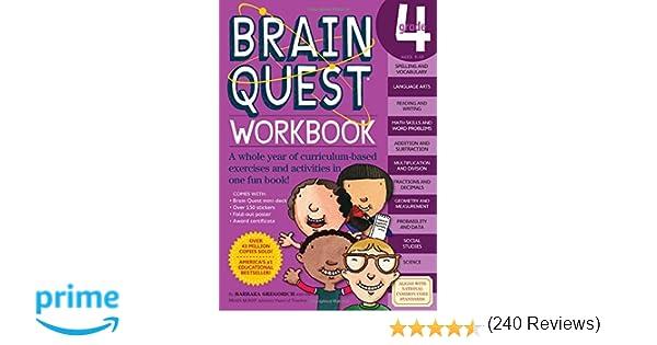 Brain Quest Workbook: Grade 4: Barbara Gregorich: 0019628150189 ...