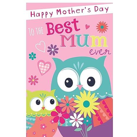 Amazon.com: Gigante día de la madre tarjeta de Poppet ...