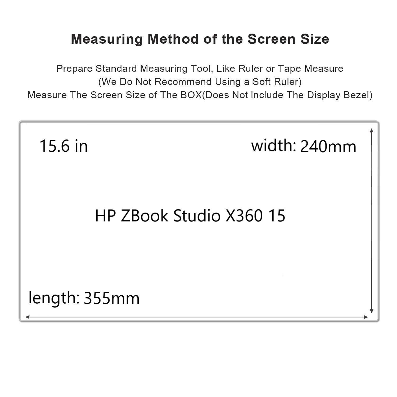 HP ZBook Studio x360 G5 Screen Protector,HD Clear LCD Anti-Scratch Anti-Fingerprints Guard Film For 15.6'' HP ZBook Studio x360 G5 Laptop(2-pack) by Liudashun (Image #2)