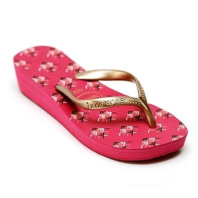 875092739f Havaianas High Light ii Orchid Rose Printed Sole Flip Flops Women Sandals 4  cm Wedge Heel: Amazon.co.uk: Shoes & Bags