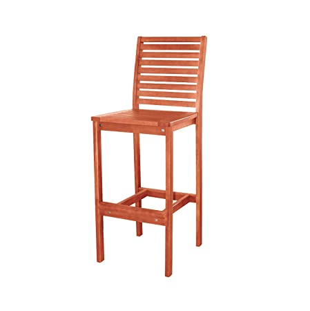 VIFAH V495 Outdoor Wood Bar Chair
