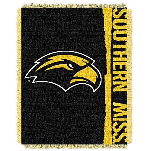 The Northwest Company Officially Licensed NCAA Southern Mississippi Golden Eagles Double Play Jacquard Throw Blanket, 48