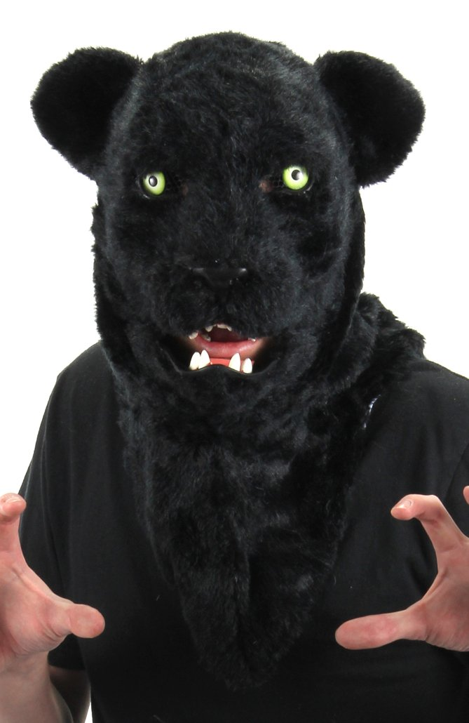 elope Black Panther Mouth Mover Costume Mask for Adults by