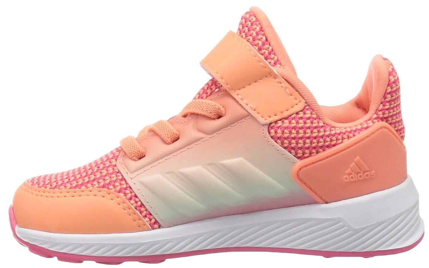 adidas Originals Baby Rapidarun Running Shoe, Chalk Coral/White/Real Pink, 7K M US Toddler