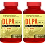 Piping Rock DL-Phenylalanine DLPA Free Form 500 mg 2 Bottles x 120 Quick Release Capsules Dietary Supplement