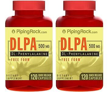 Amazon.com: Piping Rock DL-Phenylalanine DLPA Free Form 500 mg 2 ...