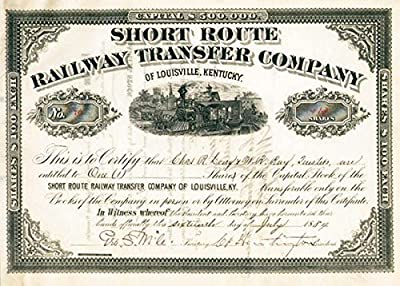 Collis P. Huntington - Short Route Railway Transfer Company of Louisville, Kentucky