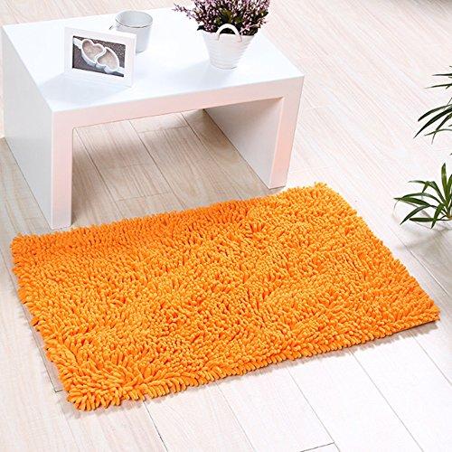 Orange Bath Rugs - 1