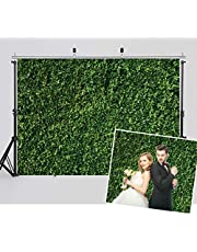 WOLADA 7x5FT Green Leaves Backdrops Microfiber Nature Leaf Backdrop Photography Birthday Backgrounds for Birthday Party Seamless Photo Booth Prop Backdrops 10923