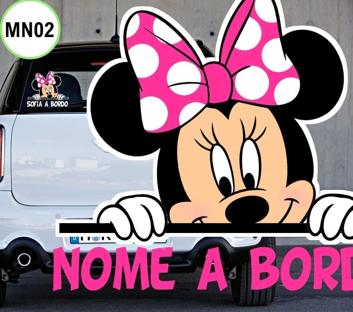 Bimbo bimba beb/è a bordo adesivo auto macchina personalizzato con qualsiasi nome colorato PER ESTERNO