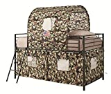 cool bunk beds Tent Loft Bed Army Green and Camouflage