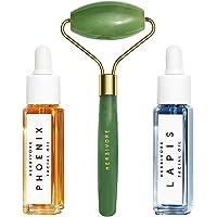 Herbivore - Natural De-Puff + Glow Mini Travel Trio | Truly Natural, Clean Beauty ($46 Value)
