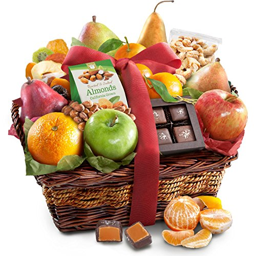 Thank You Fruit Basket (Golden State Fruit Orchard Delight and Gourmet Gift Basket)