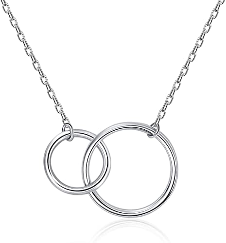 Interlocking Round Circle Bracelet Sterling Silver 925 All Sizes Available!