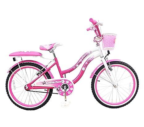Mediawave Store Bicicletta Butterfly Flower Taglia 20 Bici Per Bambina 510163 Età 7 13 Anni