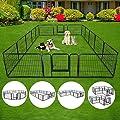 S AFSTAR Safstar 40/48 inch Dog Pen Pet Puppy Playpen Exercise Pens Gate Portable Folding Indoor Outdoor Metal Kennel Fence Pet Playpen 16 Panels