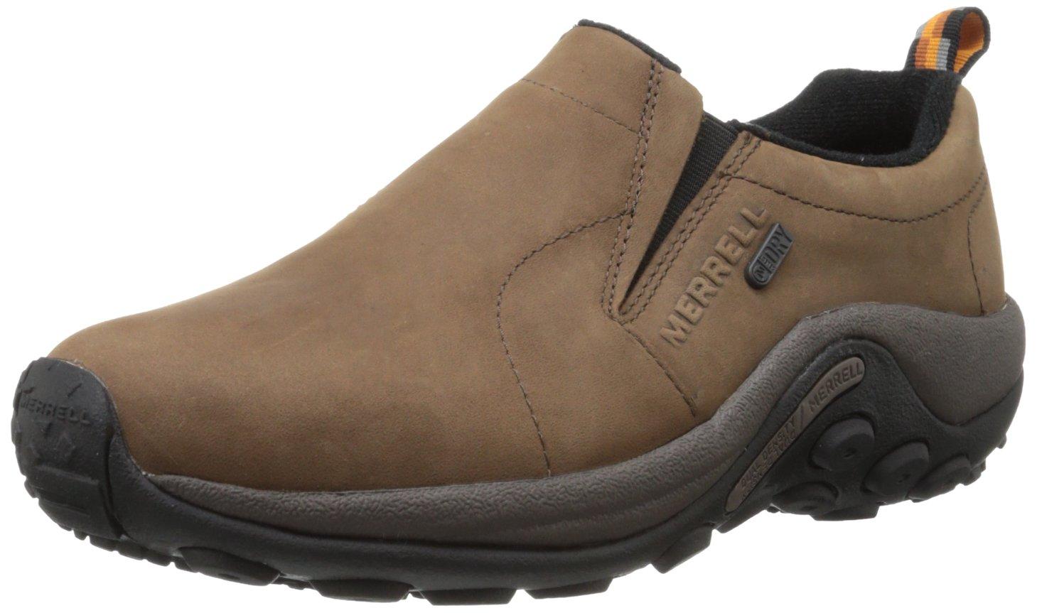 Merrell Men's Jungle Moc Nubuck Waterproof Slip-On Shoe,Brown,12 M US by Merrell